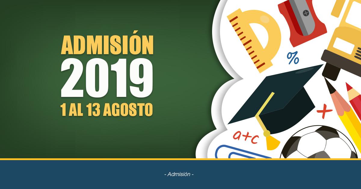 Información Admisión 2019