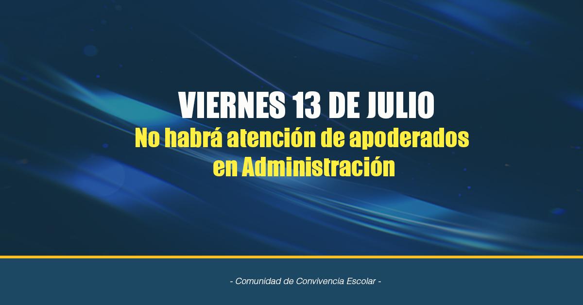 Información Viernes 13 De Julio