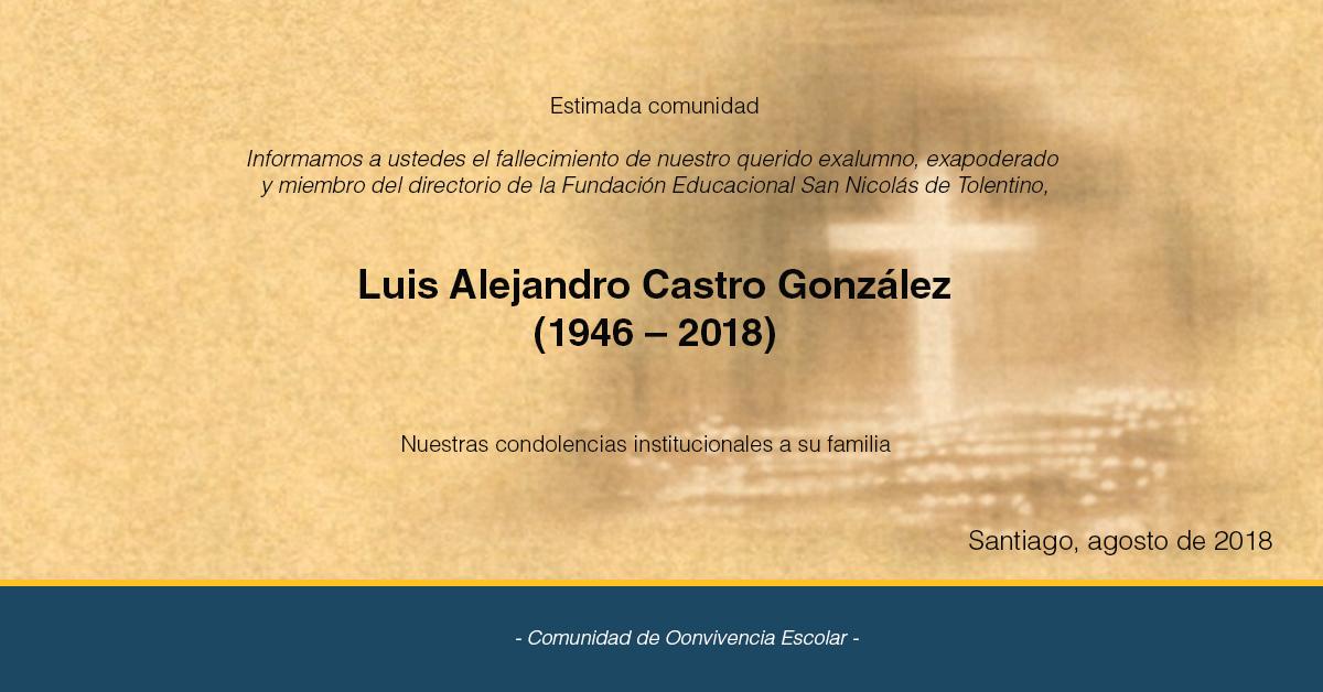 Sensible Fallecimiento De Luis Alejandro Castro  González