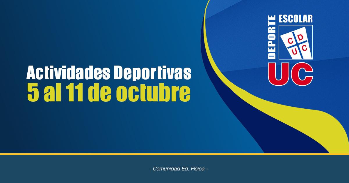 Actividades Deportivas 5 Al 11 De Octubre