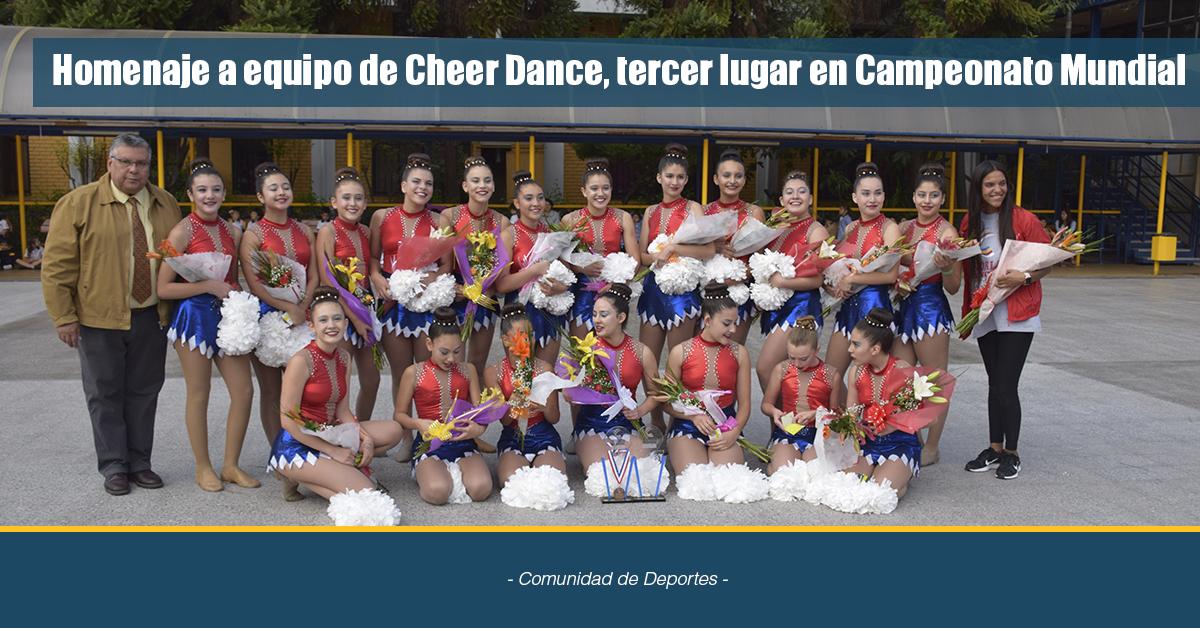 Homenaje A Equipo De Cheer Dance, Tercer Lugar En Campeonato Mundial