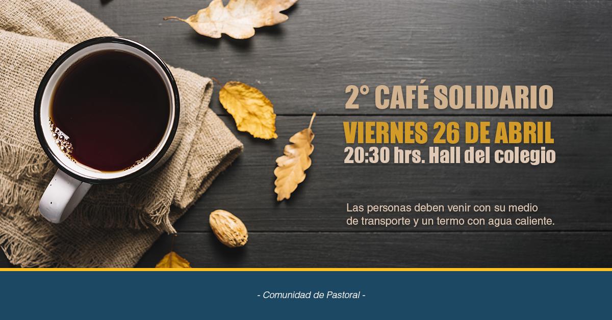 Segundo Café Solidario 26 De Abril