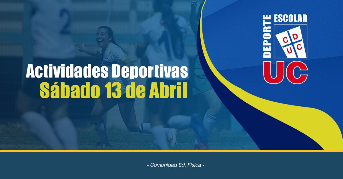 Actividades Deportivas Sábado 13 De Abril