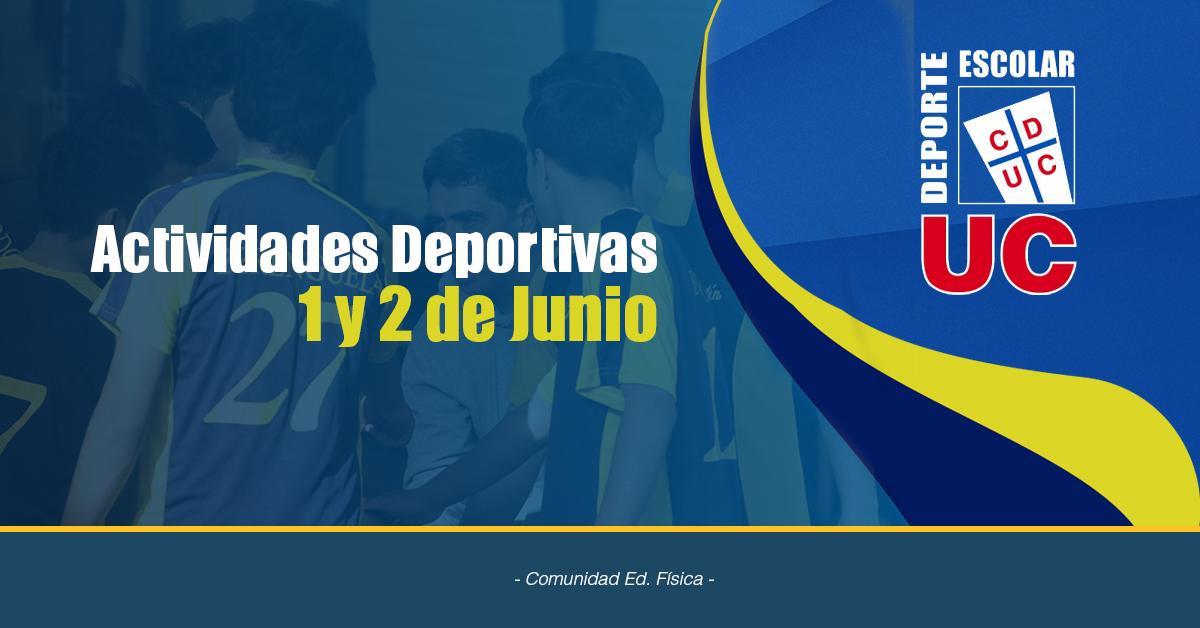 Actividades Deportivas 1 Y 2 De Junio