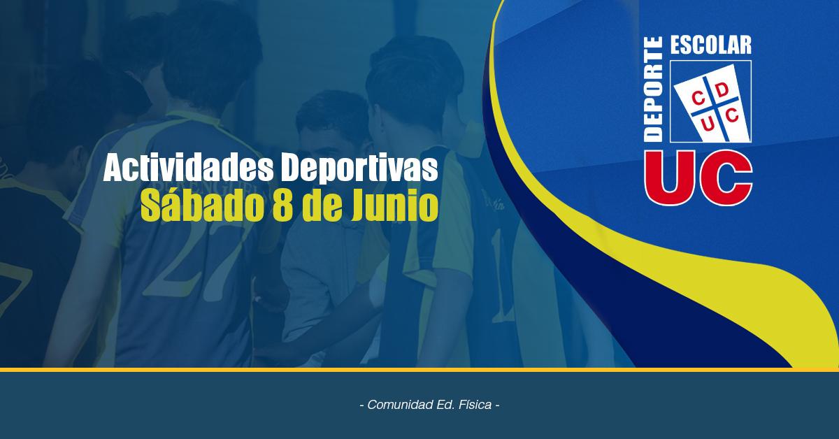 Actividades Deportivas Sábado 08 De Junio