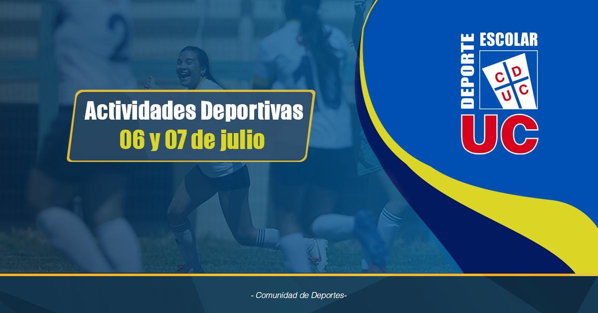 Actividades Deportivas  06 Y 07 De Julio