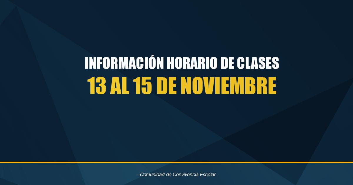 Información Clases 13 Al 15 De Noviembre