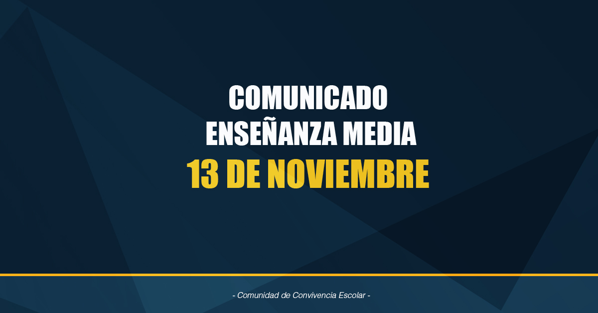 Comunicado Enseñanza Media