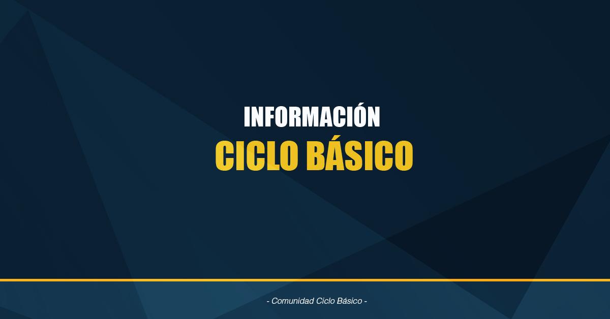 Información Ciclo Básico