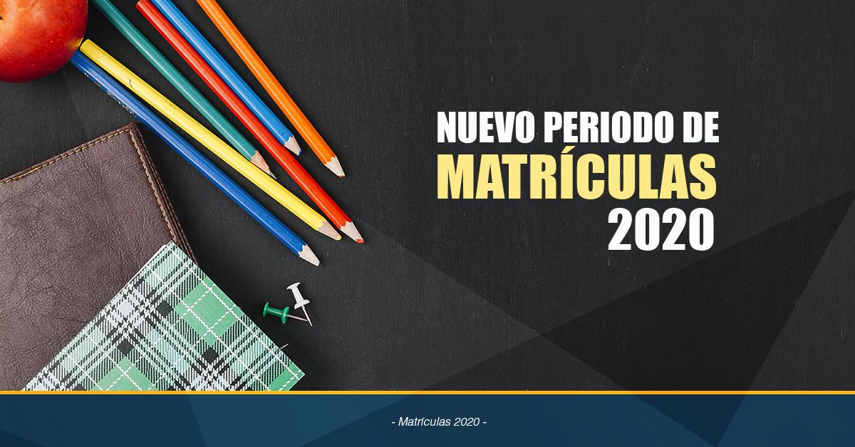 Nuevo Calendario De Matrículas 2020