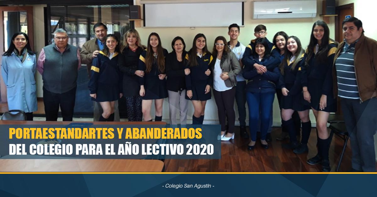 PORTAESTANDARTES Y ABANDERADOS DEL COLEGIO PARA EL AÑO LECTIVO 2020