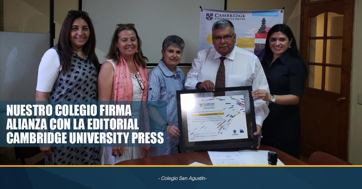 NUESTRO COLEGIO FIRMA ALIANZA CON LA EDITORIAL CAMBRIDGE UNIVERSITY PRESS