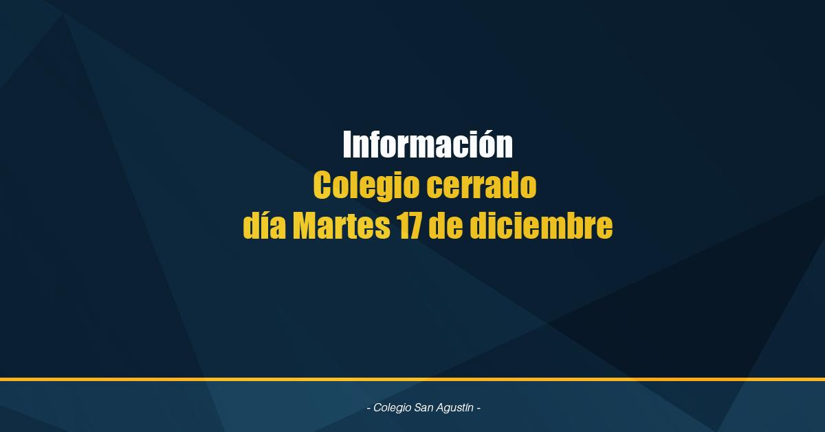 Colegio No Atenderá Publico Martes De Diciembre
