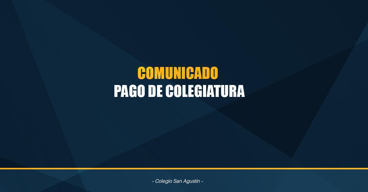 Comunicado Pago Colegiatura