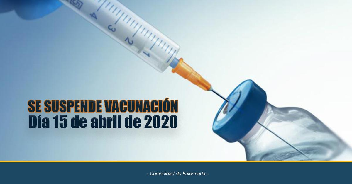 Suspensión Vacunación
