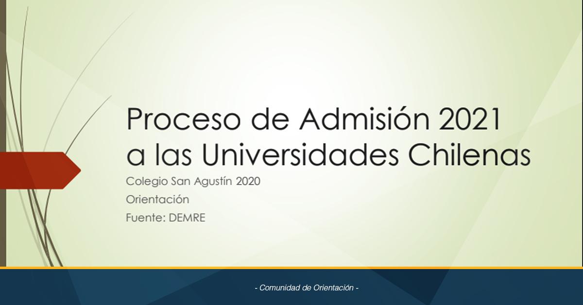 Proceso De Admisión 2021 A Las Universidades Chilenas