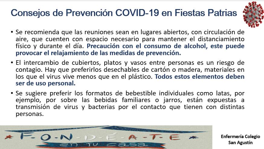 Material Educativo Consejos Prevención De COVID-19 En Fiestas Patrias