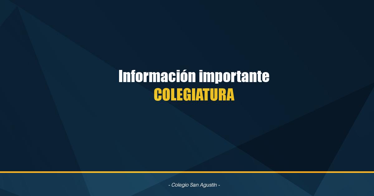 Información Importante Colegiatura