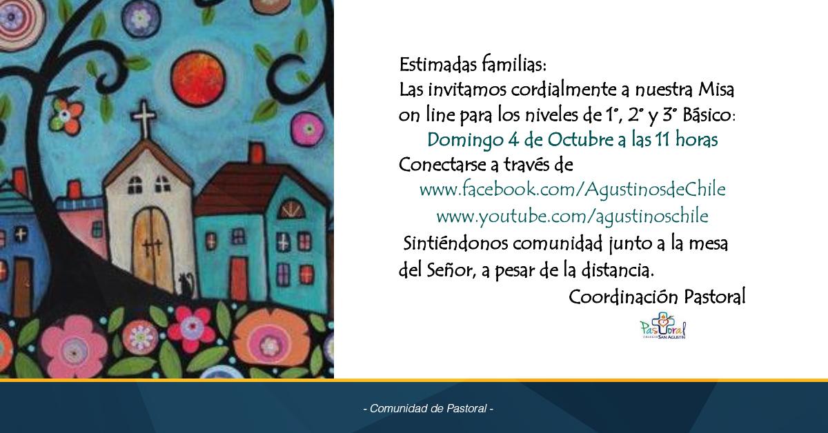 Invitación Eucaristía 1º, 2º Y 3º Básicos 4 De Octubre